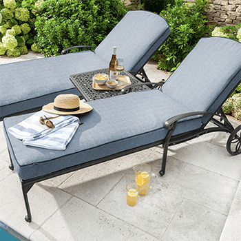 Image of Hartman Amalfi Lounger Duet Set in Antique Grey / Platinum