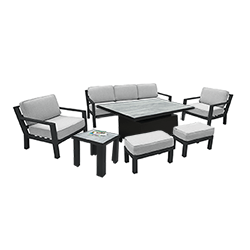 Small Image of Hartman Apollo Adjustable Lounge Set in Carbon/Pewter