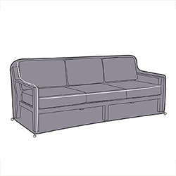 Small Image of Hartman Atlas 3 Seat Lounge Sofa Cover