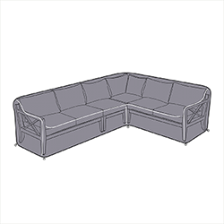 Small Image of Hartman Sorrento Rectangular Corner Sofa Cover - Left Hand Facing