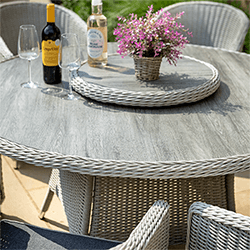 Extra image of Hartman Henley 6 Seat Round Set with Lazy Susan in Aspen/Slate