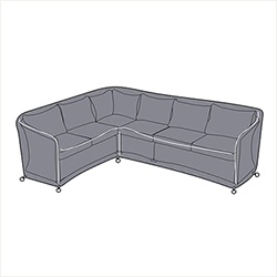 Small Image of Hartman Henley Rectangular Corner Sofa Cover - Right Hand Facing