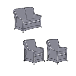 Small Image of Hartman Heritage 2 Seat Reclining Lounge Set Covers