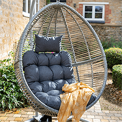 Extra image of Hartman Heritage Cocoon Egg Chair in Ash / Slate
