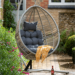 Small Image of Hartman Heritage Cocoon Egg Chair in Ash / Slate