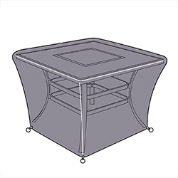 Small Image of Jamie Oliver Square Fire Pit Table Cover