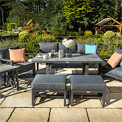 Small Image of Hartman Sorrento Lounge Set in Xerix/Slate