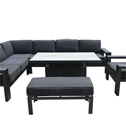 Extra image of Hartman Titan Rectangular Corner Sofa Set with Adjustable Table in Carbon/Nebula