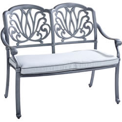 Extra image of Hartman Amalfi 2 Seater Bench in Antique Grey / Platinum