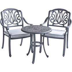 Extra image of Hartman Amalfi Bistro Set in Antique Grey / Platinum