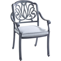 Extra image of Hartman Amalfi Dining Chair in Antique Grey / Platinum