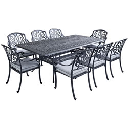 Extra image of Hartman Amalfi 8-Seater Rectangular Dining Set Antique Grey / Platinum