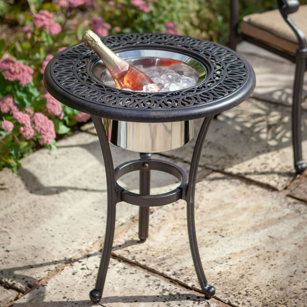 Extra image of Hartman Amalfi Bistro Table with Ice Bucket
