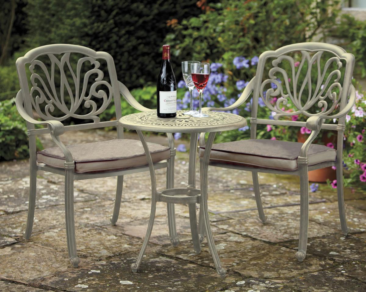 Amalfi 2 Seater Cast Aluminium Garden Bistro Set UK - £386.75 ...