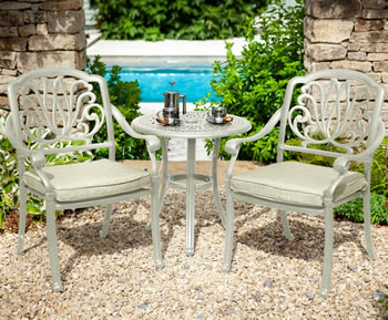 Image of Hartman Amalfi Bistro Set in Maize / Wheatgrass