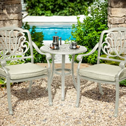Small Image of Hartman Amalfi Bistro Set in Maize / Wheatgrass