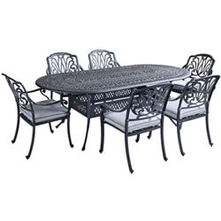 Extra image of Hartman Amalfi 6 Seater Oval Dining Set in Antique Grey / Platinum - NO PARASOL