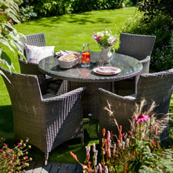 Extra image of Hartman Appleton 4 Seater Round Dining Set in Slate / Stone