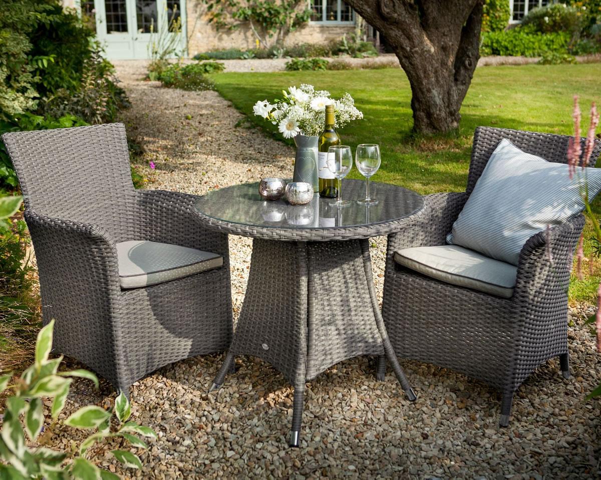 2017 hartman appleton bistro garden furniture set in slate stone 2975 garden4less uk shop - Garden Furniture 2017 Uk