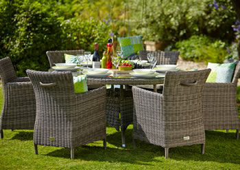 Image of Hartman Bali Weave 6 Seater Dining Furniture Set