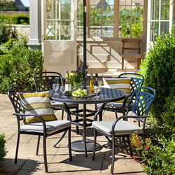 Small Image of Hartman Berkeley 4 Seater Round Set, Midnight/Shadow NO PARASOL