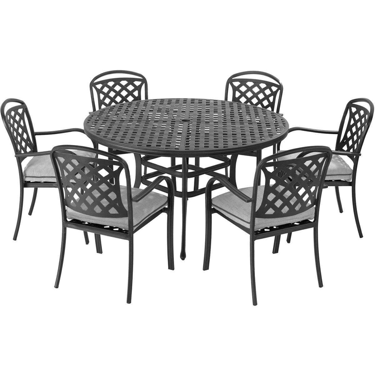 Metal Garden Table And Chair Sets Uk: Berkeley Cast Aluminium 6 Seater Round Garden Dining Set