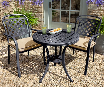 Image of 2019 Hartman Berkeley Bistro Set in Bronze / Amber