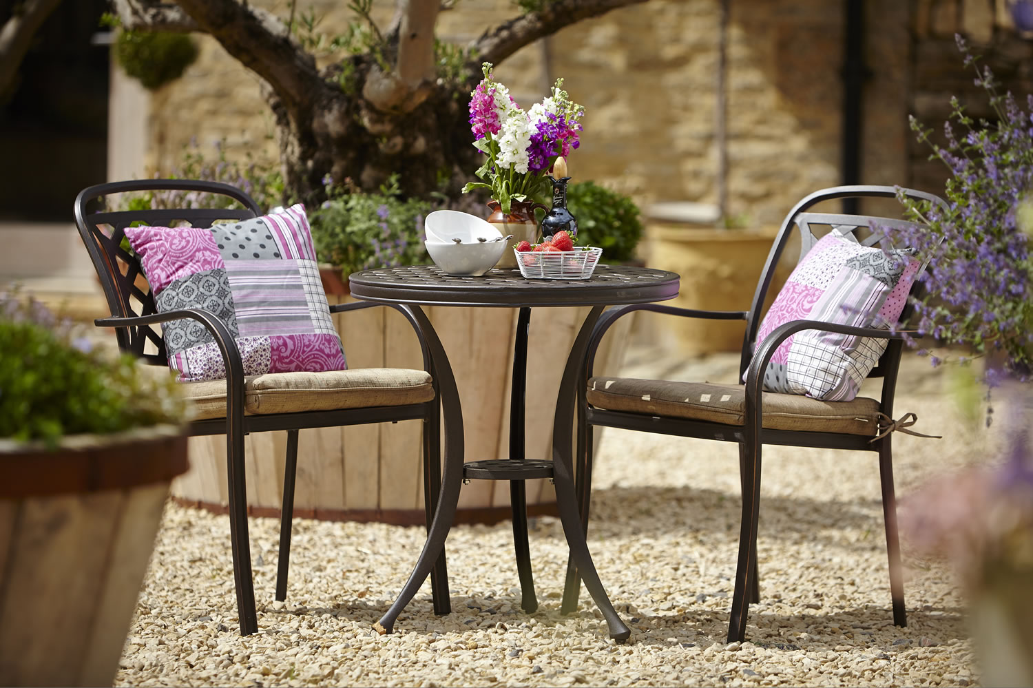 aluminium garden bistro furniture set 250 garden4less uk shop