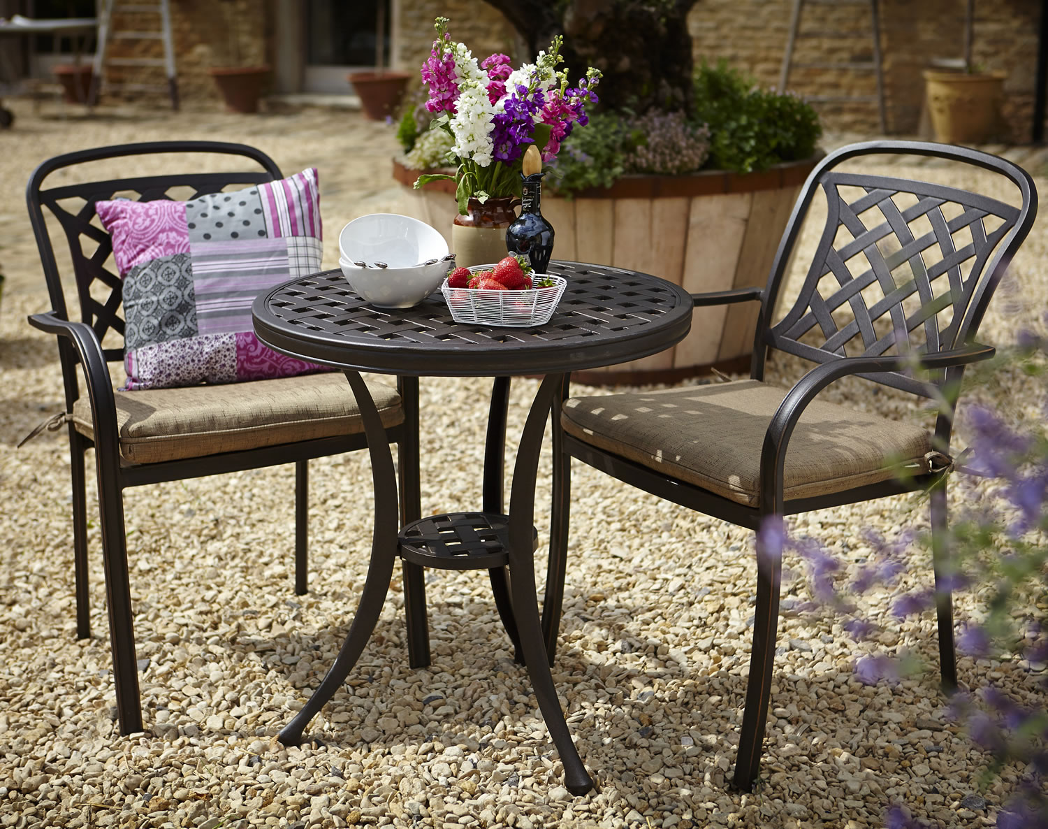Berkeley Cast Aluminium Garden Bistro Furniture Set