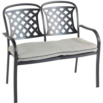 Extra image of 2018 Hartman Berkeley Cast Aluminium Garden Bench, Midnight/ Shadow