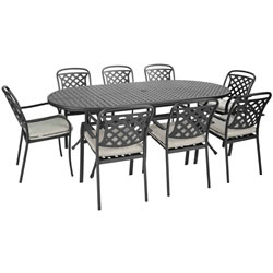 Extra image of Hartman Berkeley Oval 8 Seater Set NO PARASOL  - Midnight/Shadow