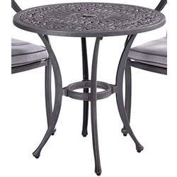 Small Image of Hartman Capri 76cm Bistro Table in Antique Grey