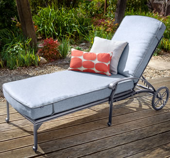 Image of Hartman Capri Lounger in Antique Grey / Platinum