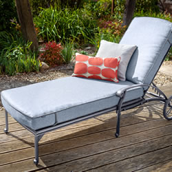 Small Image of Hartman Capri Lounger in Antique Grey / Platinum