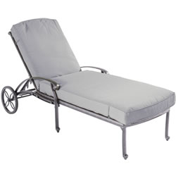 Extra image of Hartman Capri Lounger in Antique Grey / Platinum