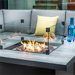 Extra image of Hartman Atlas Square Corner Sofa Set with Fire Pit in Carbon/Pewter