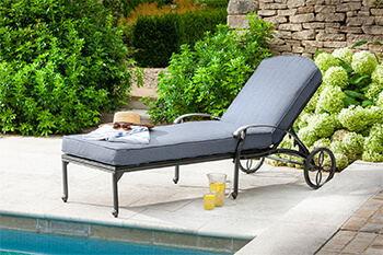 Image of Hartman Amalfi Lounger in Antique Grey / Platinum
