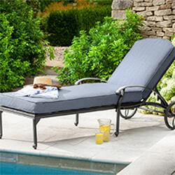 Small Image of Hartman Amalfi Lounger in Antique Grey / Platinum