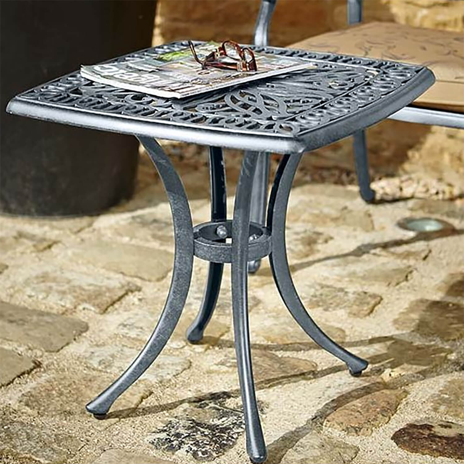Hartman Amalfi Square Side Table In Antique Grey 163 109
