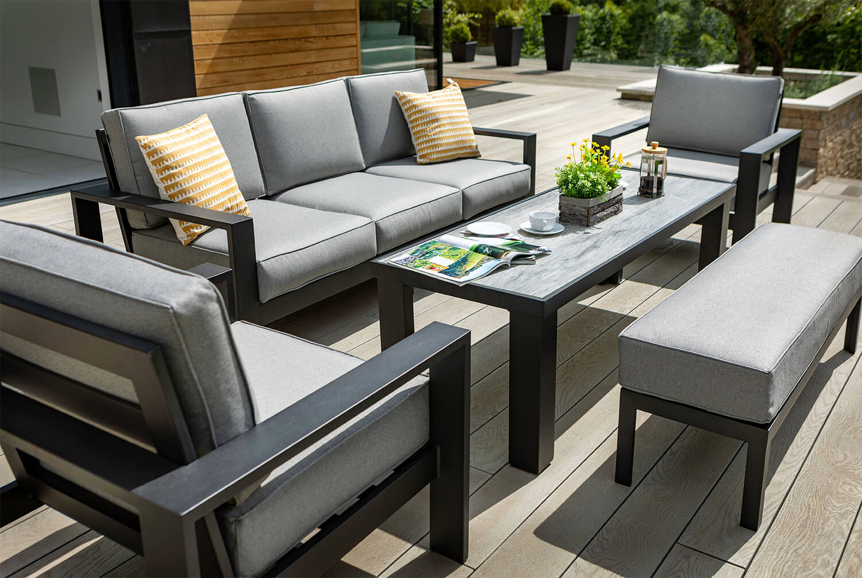Hartman Atlas 3 Seat Sofa Lounge Set In Carbon Pewter 163