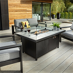 Extra image of Hartman Atlas 2 Seater Sofa Lounge Set with Gas Fire Pit Table, Carbon