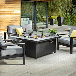 Small Image of Hartman Atlas 2 Seater Sofa Lounge Set with Gas Fire Pit Table, Carbon