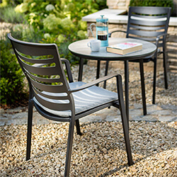 Extra image of Hartman Aurora Bistro Set in Carbon / Pewter