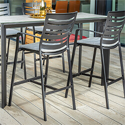 Small Image of Hartman Aurora Bar Stool in Carbon / Pewter