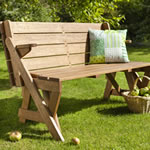 Chartwell FSC Acacia Garden Bench Picnic Table by Hartman