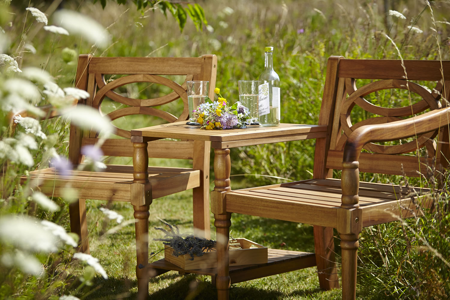 Extra image of Cleobury FSC Companion Garden Bench from Hartman