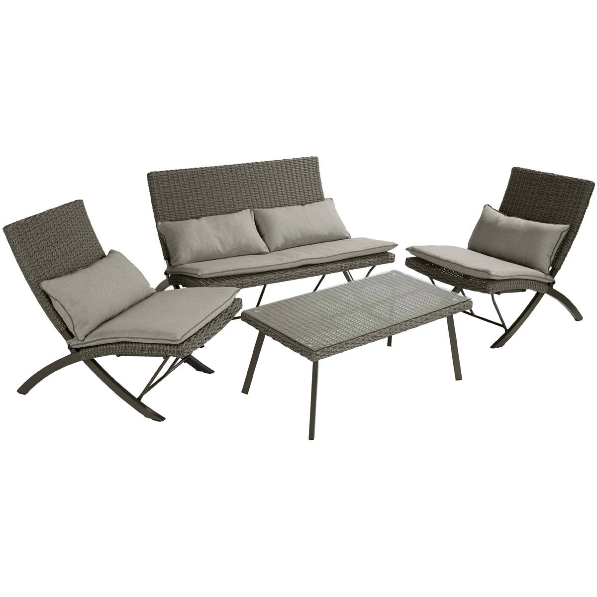 Extra image of Hartman Essential  Folding Lounge Coffee Set in Slate / Stone