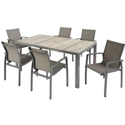 Extra image of Hartman Georgia 6 Seat Dining Set in Platinum