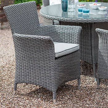 Image of Hartman Appleton Weave Dining Chair in Slate / Stone