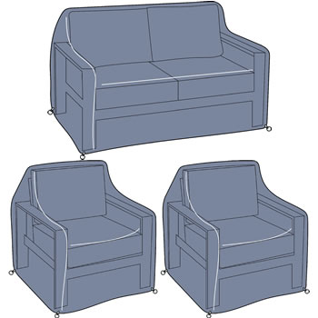 Image of Hartman Atlas 2 Seat Lounge Set Cover